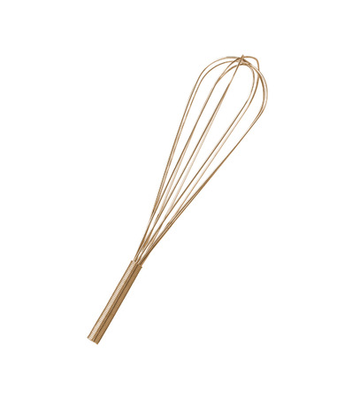 Stainless steel whisk isolated