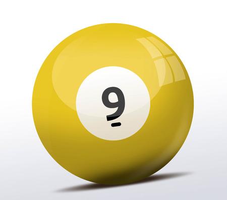 number nine: Number nine billiard ball Stock Photo