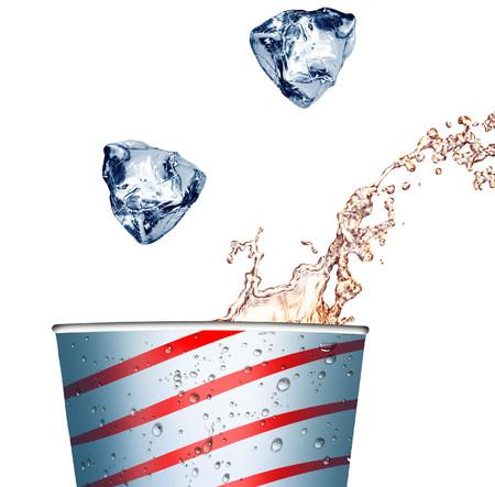 agua purificada: Agua purificado fr�a en el vidrio de burbujas Foto de archivo