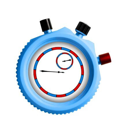 run off: Stopwatch on white background