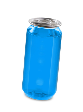drink can: blue drink can isolated over white background