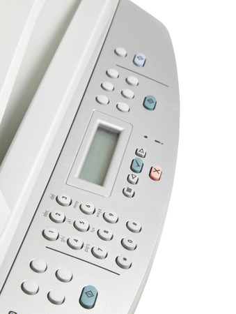 digital printer: Modern digital printer on the white