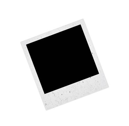 clothespeg: old Polaroid frame on white background