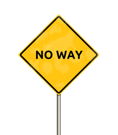 pointless: no way - sign