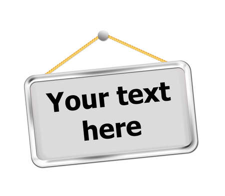 metal sign: metal sign, easy to add your text. Stock Photo
