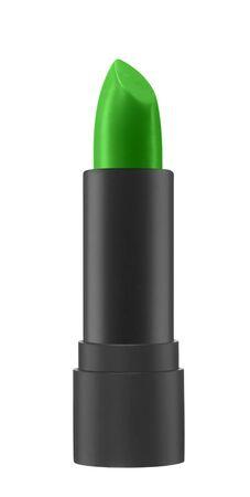 lip stick: green color lip stick Stock Photo