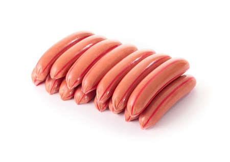 whitem: sausages isolated