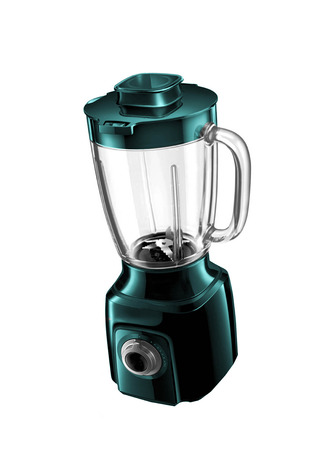 cocktail mixer: electric blender on a white background
