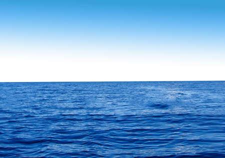 composure: Blue sky and sea