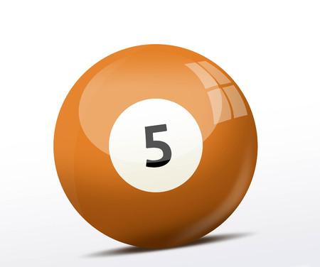 billiard ball: Number five billiard ball