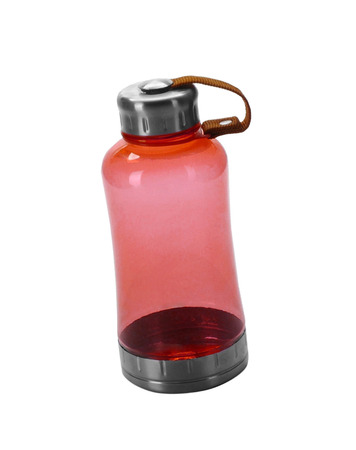eagerly: Red drinking sport bottle isolated on white Stock Photo