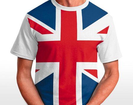 UK t-shirt isolated on white Stock Photo