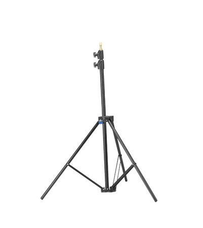 tiny lenses: Black tripod isolated on white
