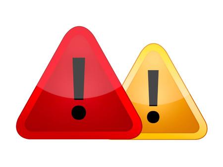 signos de precaucion: señales de advertencia de peligro Foto de archivo