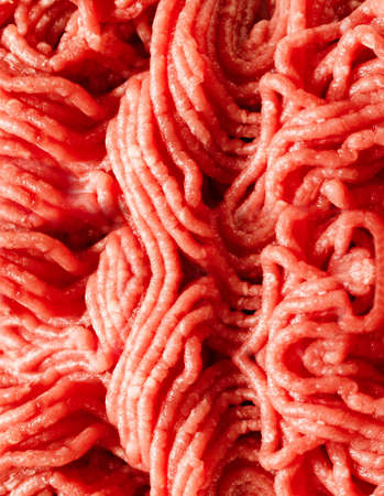 minced beef: Raw minced beef close-up