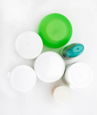 Different types of cosmetic containers