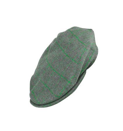 mans: green felt mans cap isolated on white