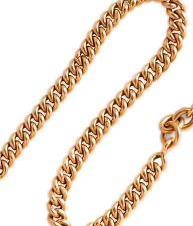 gold chain: Nice gold chain isolated
