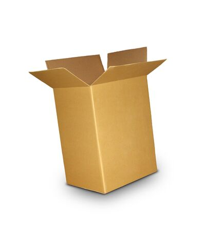 corrugated box: Corrugated Box with Path