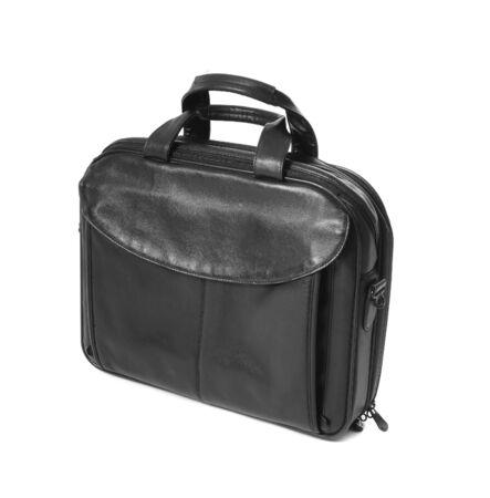 black briefcase: Luxury business black briefcase isolaetd