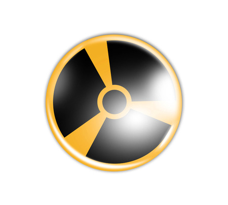 Radiation sign in circle