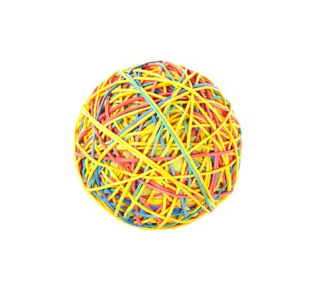 rubber bands: colorful ball of rubber bands Stock Photo