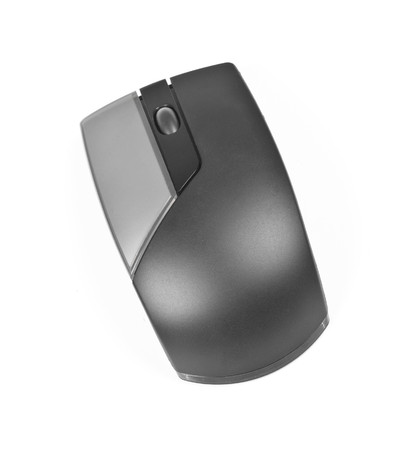 scrollwheel: Computer mouse isolated on the white Stock Photo