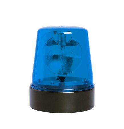 beacon: blue rotating beacon Stock Photo