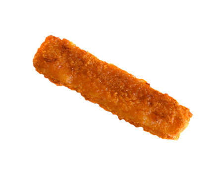 fish stick on a white background