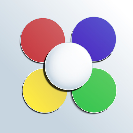 Colorful button on white background for any infographic