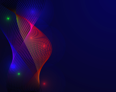 Colorful spectrum in blue background. Abstract Background concept. Element of presentation. Vector illustration