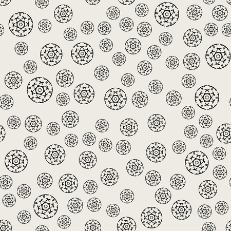 Seamless pattern background. Abstract and Classical concept. Geometric creative design stylish theme. Illustration vector. Black and white color.