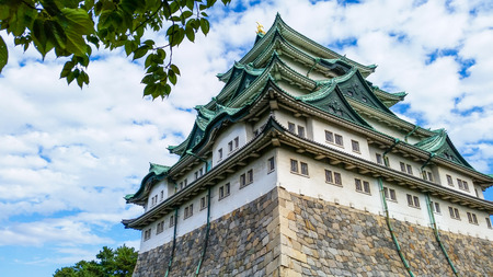 Nagoya Castle in Japan. Building and Attraction landmarks concept. Travel around the world theme.