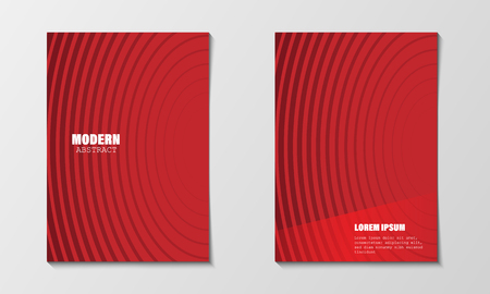 Minimal abstract covers design template. Modern red circle line gradients. Company profile brochure and business annual report. EPS10 vector illustration. Printable A4 size and any paper size Imagens - 126099277