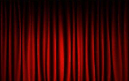 Red curtain stage concert show background. Abstract and background wallpaper concept.