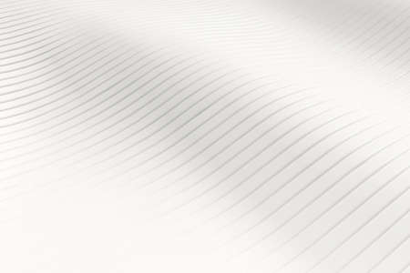 White abstract slice wave pattern background. Wallpaper and backdrop concept. 3D illustration rendering graphic design