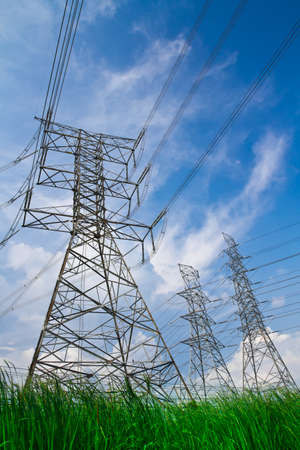 electric high voltage power post  Stock Photo - 9440830