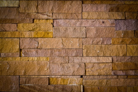 Modern brick stone wall texture photo