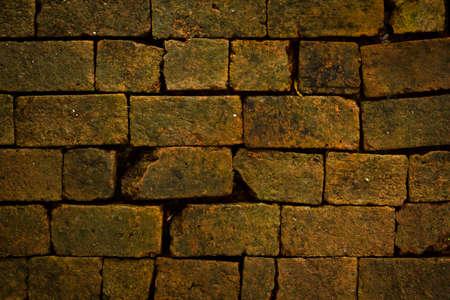 Ancient brick wall photo