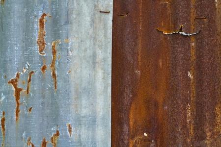 rusty metal fence photo