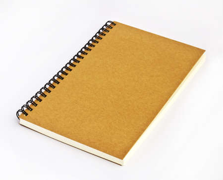 brown cover note book on white background Stock Photo - 9577630