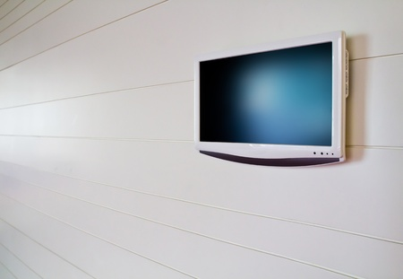 lcd screen on white background photo