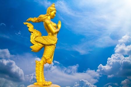 kinaree, a mythology figure, is angle of thailand photo
