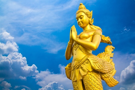 kaew: kinaree, a mythology figure, is angle of thailand