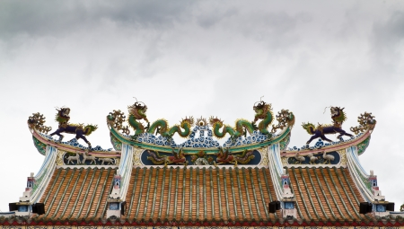 symbolism: Dragon roof is symbolism and Chinese style Stock Photo
