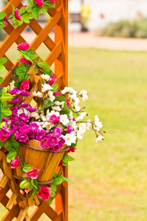 glass fence: Decorative flower