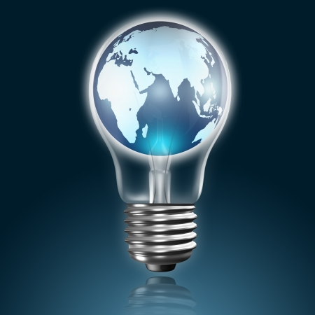 global in light bulb Stock Photo - 14562958