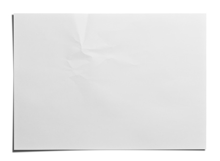 Paper texture  White paper sheet  Stock Photo - 14562909