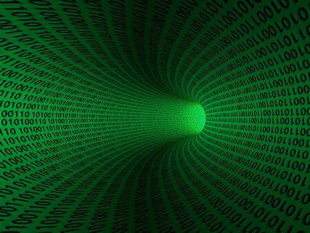 codigo binario: Ceros del c�digo binario y las que est�n creando el fondo en verde Foto de archivo