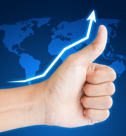 hand business graph Stock Photo - 14589324